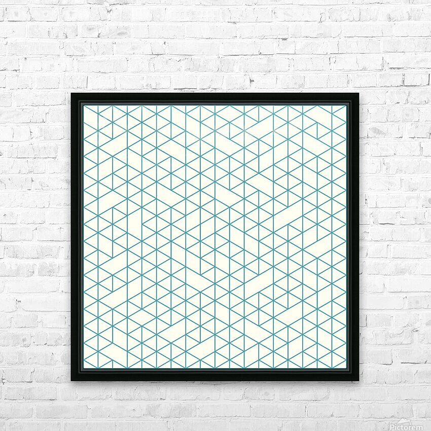 Abstract lines  HD Sublimation Metal print with Decorating Float Frame (BOX)