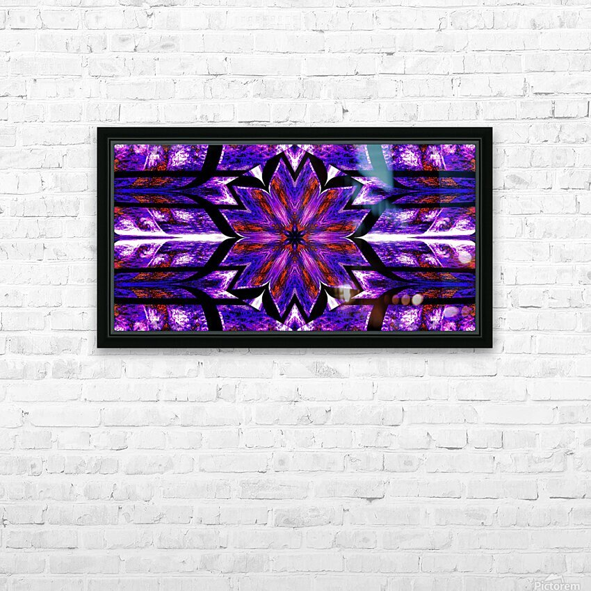 Lotus In Glow 14 HD Sublimation Metal print with Decorating Float Frame (BOX)