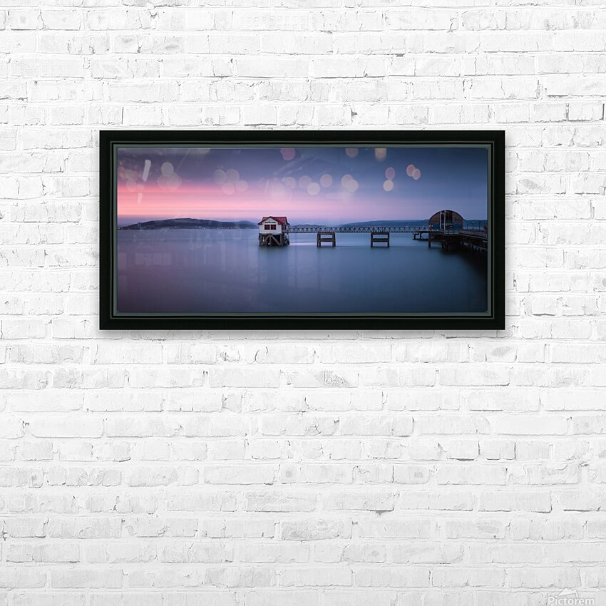 Mumbles pier and lifeboat station in Swansea HD Sublimation Metal print with Decorating Float Frame (BOX)