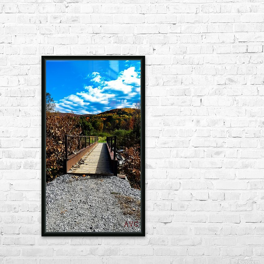 Rugby Pitch Bridge-- Autumn HD Sublimation Metal print with Decorating Float Frame (BOX)