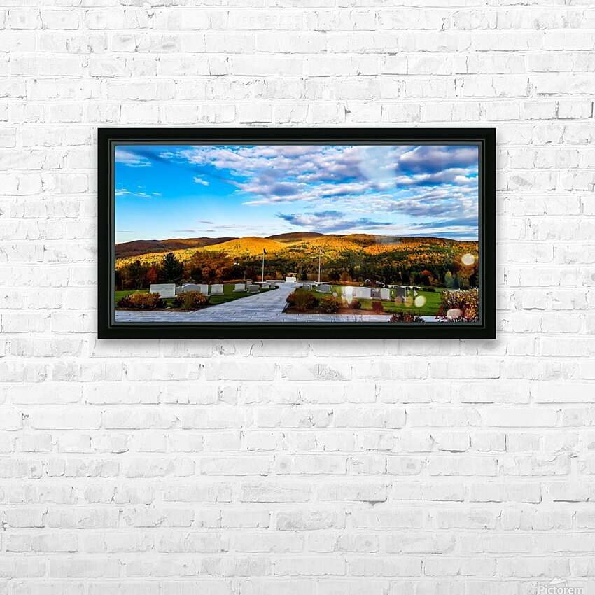 Autumn from the Mountain HD Sublimation Metal print with Decorating Float Frame (BOX)