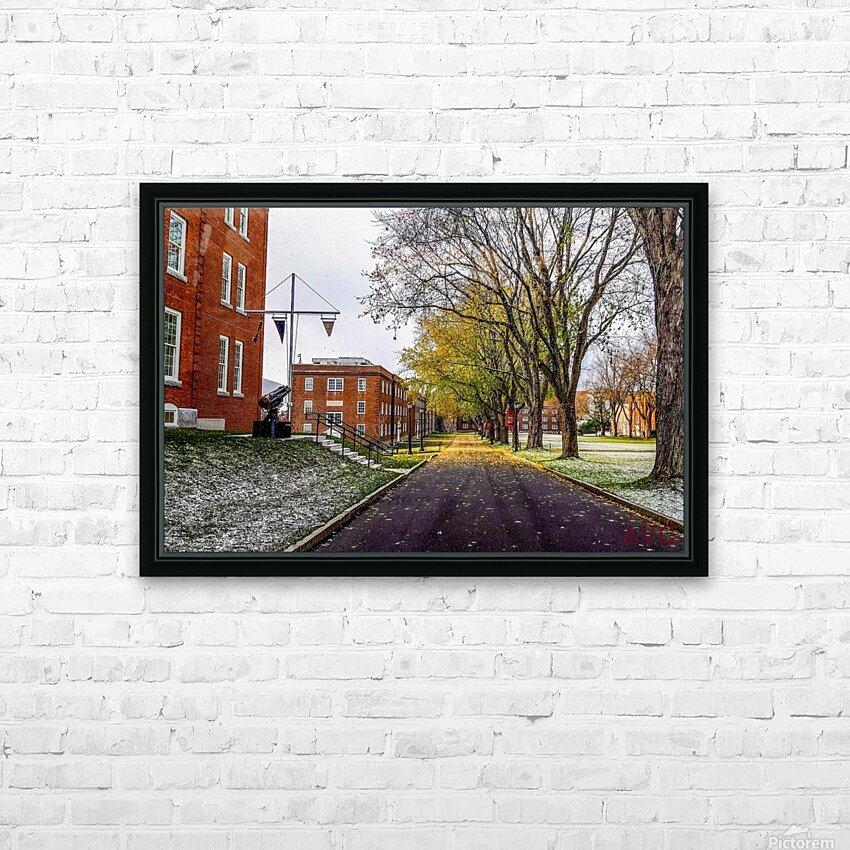 Autumn on the Parade Ground HD sublimation métal imprimé avec décoration flotteur cadre (boîte)
