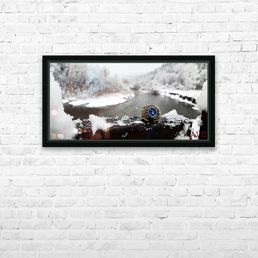 One for the Ring-- Winter HD Sublimation Metal print with Decorating Float Frame (BOX)