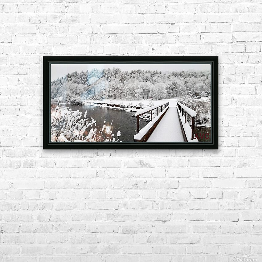 Rugby Pitch Bridge- Winter HD Sublimation Metal print with Decorating Float Frame (BOX)
