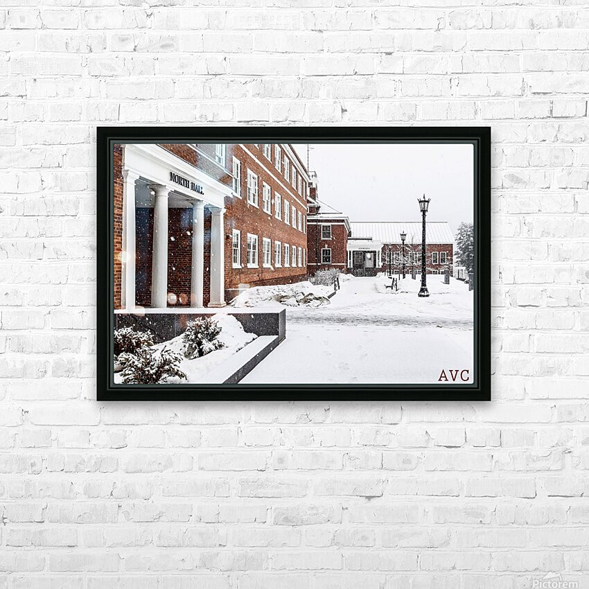 North Hall- Winter HD Sublimation Metal print with Decorating Float Frame (BOX)