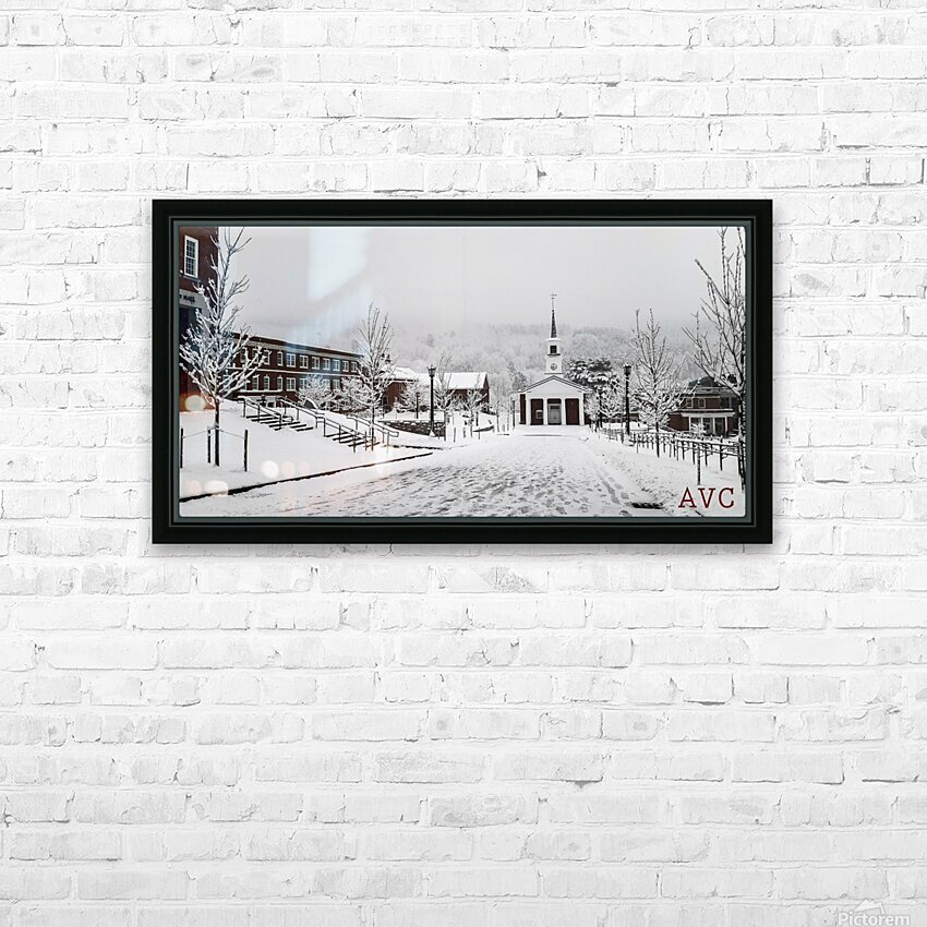 White Chapel-- Winter HD Sublimation Metal print with Decorating Float Frame (BOX)