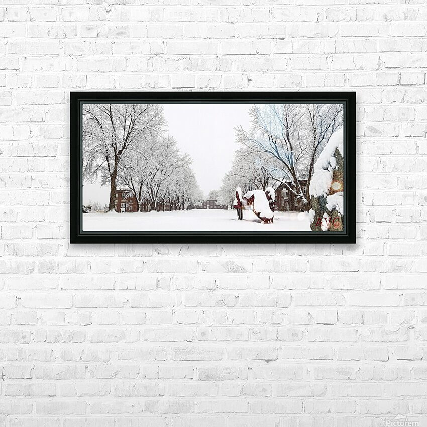 Parade Ground-- Winter HD Sublimation Metal print with Decorating Float Frame (BOX)