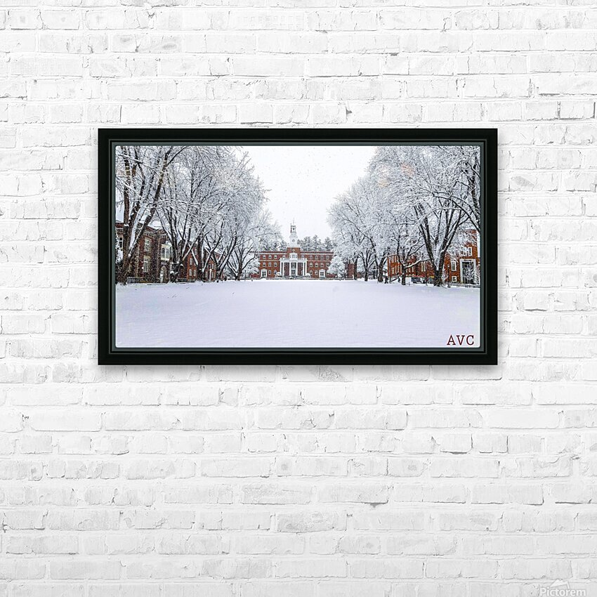 Upper Parade Ground- Winter HD Sublimation Metal print with Decorating Float Frame (BOX)