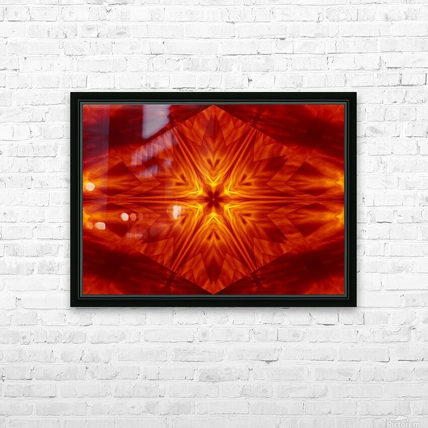 Fire Flowers 1 HD Sublimation Metal print with Decorating Float Frame (BOX)