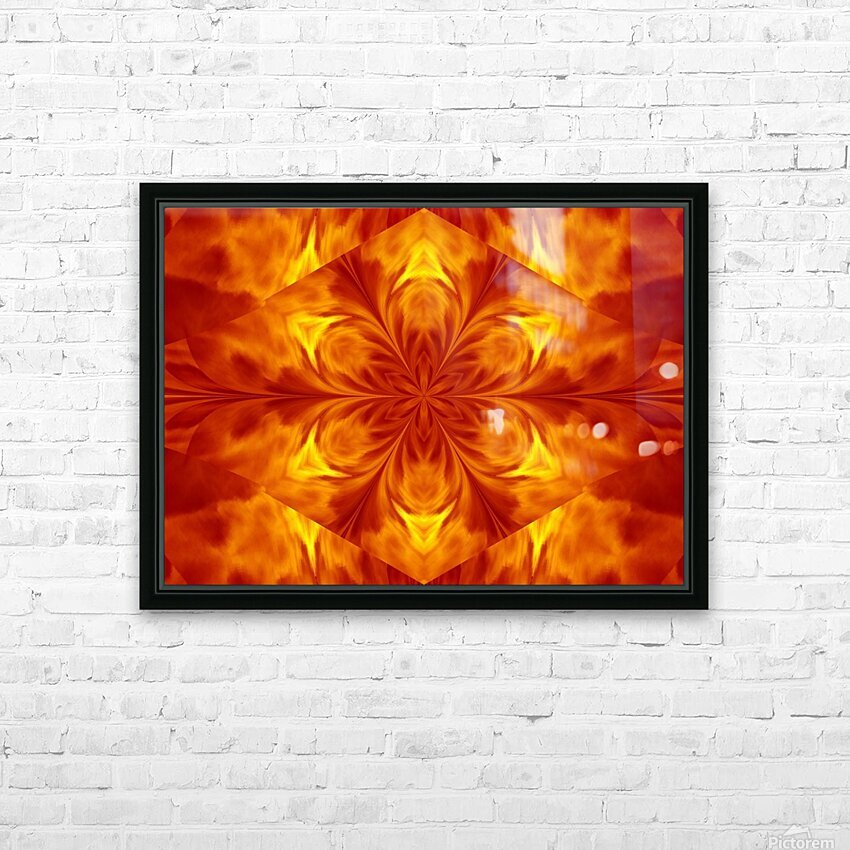 Fire Flowers 7 HD Sublimation Metal print with Decorating Float Frame (BOX)