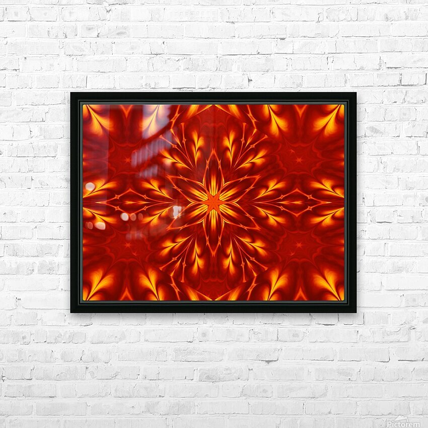 Fire Flowers 9 HD Sublimation Metal print with Decorating Float Frame (BOX)
