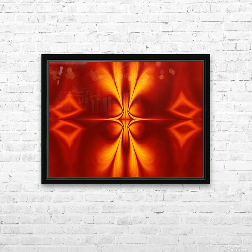 Fire Flowers 12 HD Sublimation Metal print with Decorating Float Frame (BOX)