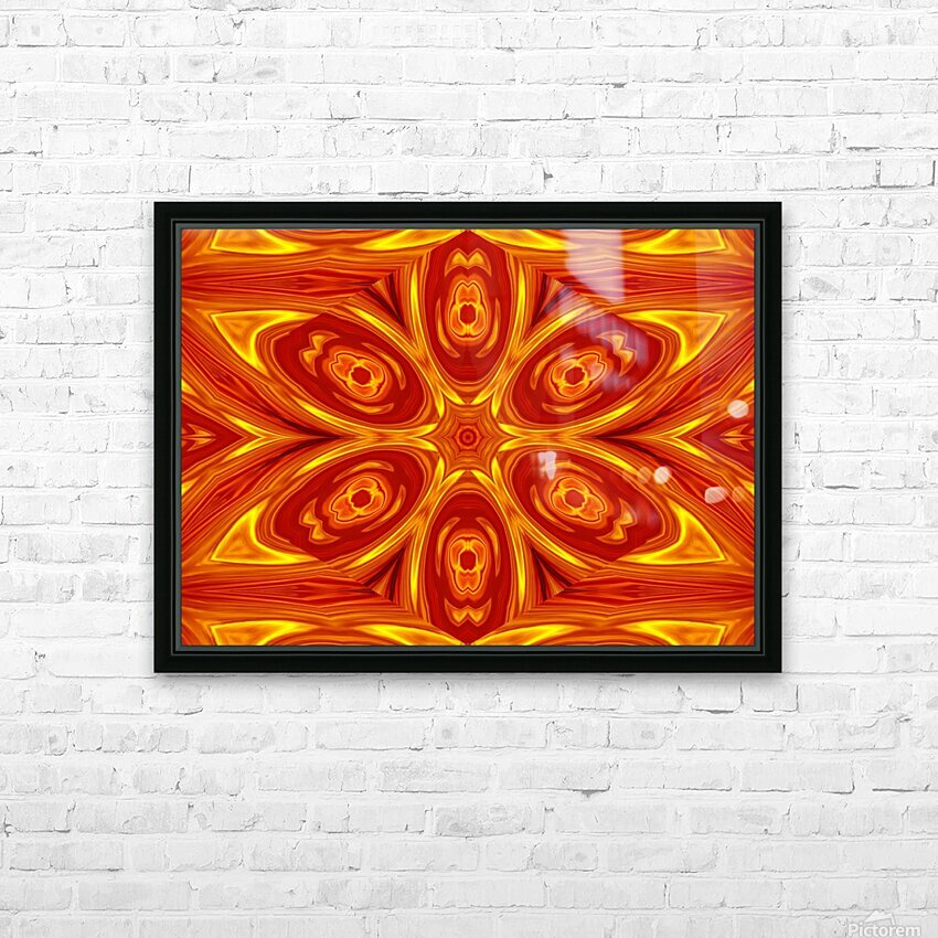 Fire Flowers 53 HD Sublimation Metal print with Decorating Float Frame (BOX)