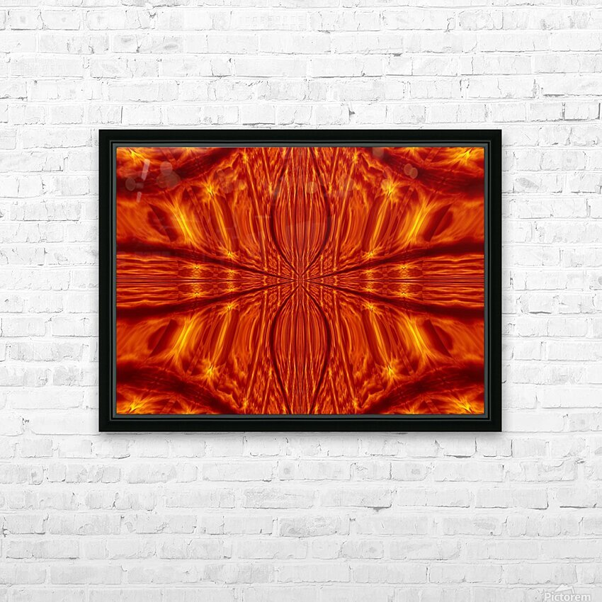 Fire Flowers 55 HD Sublimation Metal print with Decorating Float Frame (BOX)