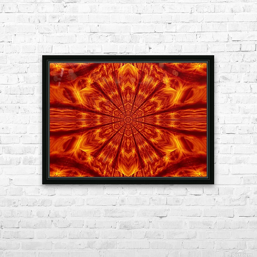 Fire Flowers 56 HD Sublimation Metal print with Decorating Float Frame (BOX)