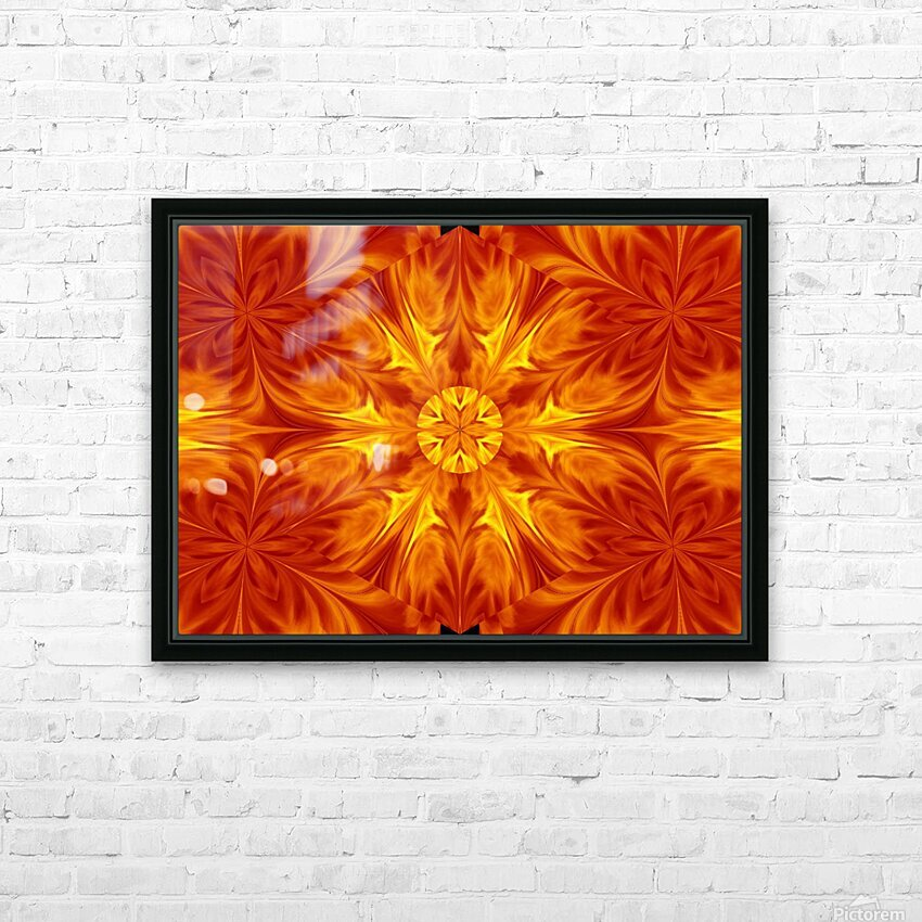 Fire Flowers 69 HD Sublimation Metal print with Decorating Float Frame (BOX)