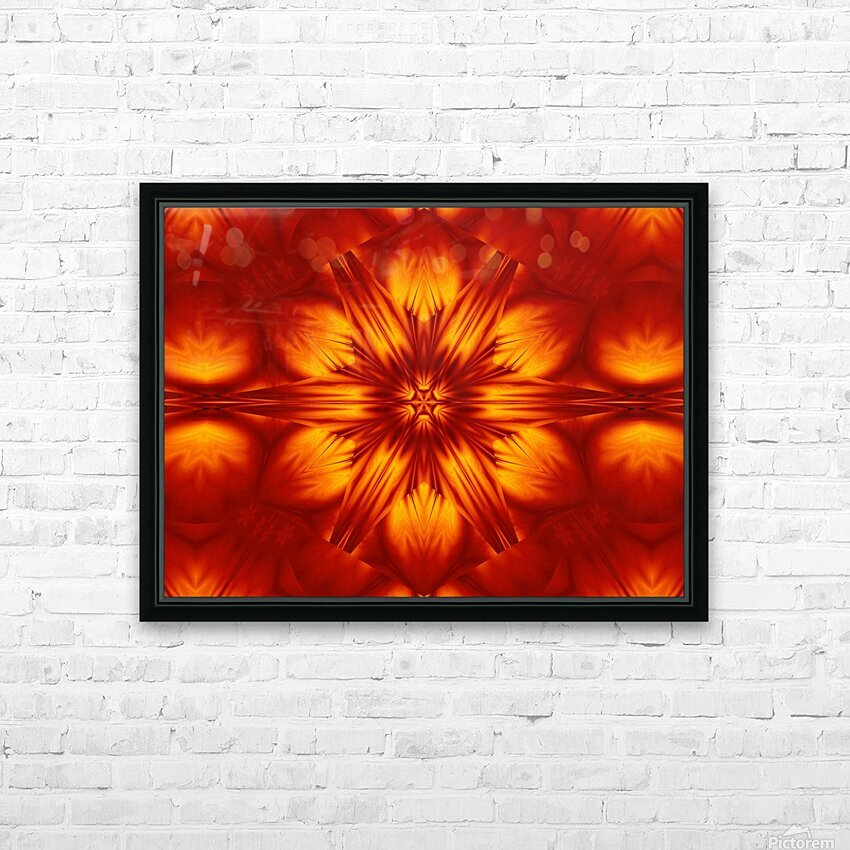 Fire Flowers 74 HD Sublimation Metal print with Decorating Float Frame (BOX)