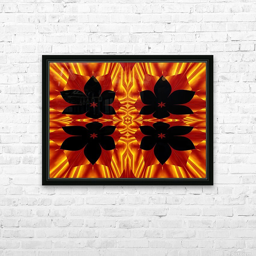 Fire Flowers 89 HD Sublimation Metal print with Decorating Float Frame (BOX)