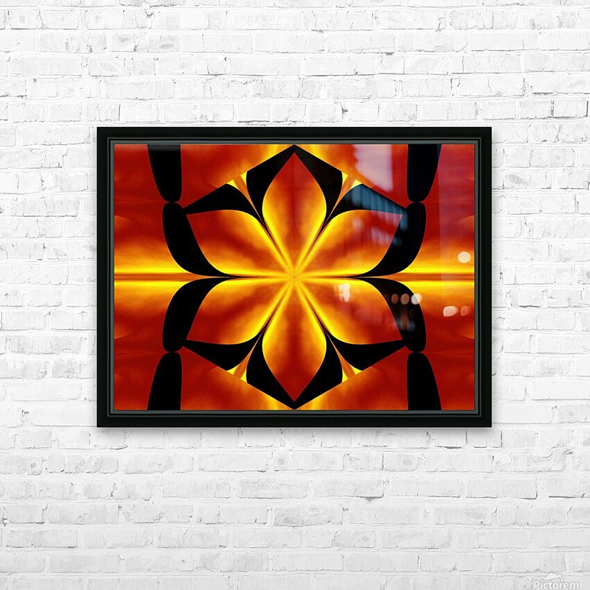 Fire Flowers 91 HD Sublimation Metal print with Decorating Float Frame (BOX)