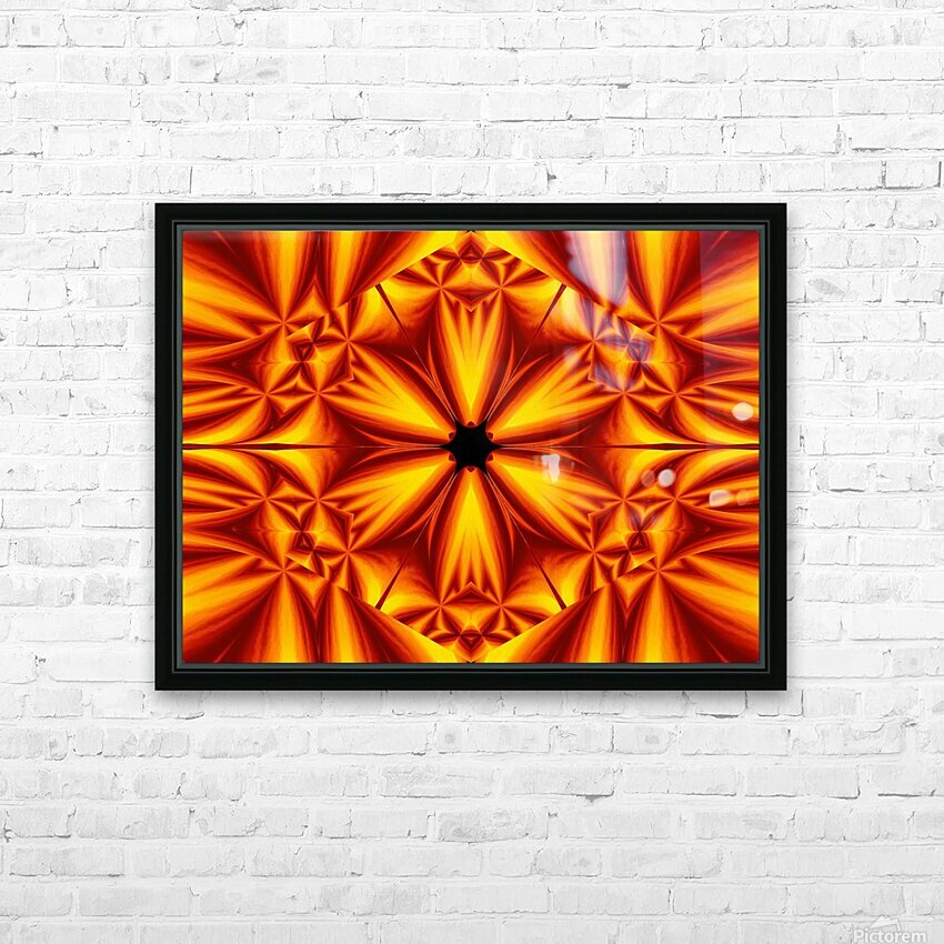 Fire Flowers 103 HD Sublimation Metal print with Decorating Float Frame (BOX)