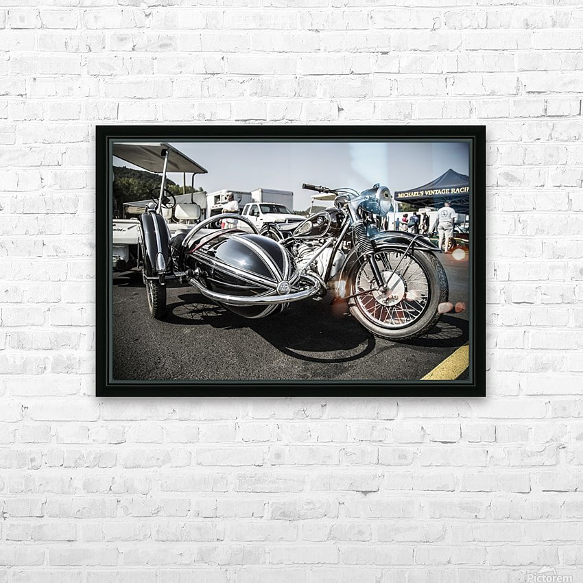 Motorcycle  HD Sublimation Metal print with Decorating Float Frame (BOX)