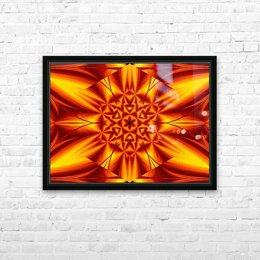 Fire Flowers 104 HD Sublimation Metal print with Decorating Float Frame (BOX)