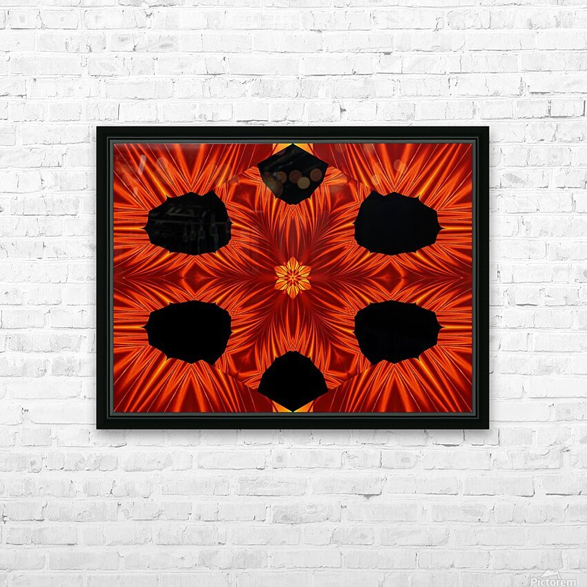 Fire Flowers 105 HD Sublimation Metal print with Decorating Float Frame (BOX)