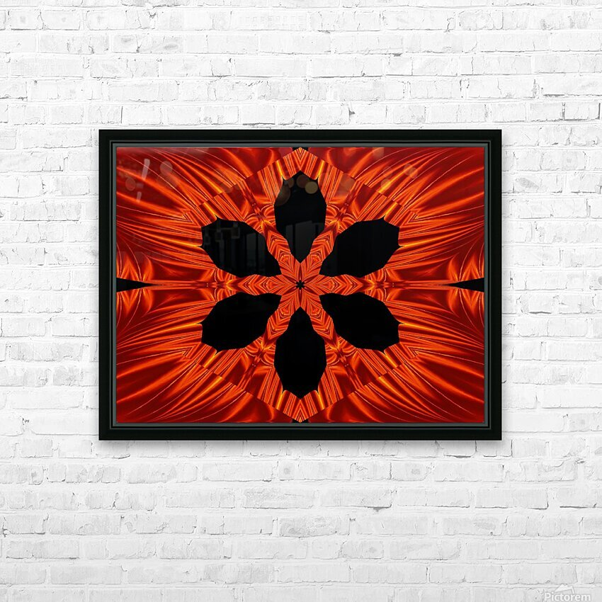 Fire Flowers 106 HD Sublimation Metal print with Decorating Float Frame (BOX)