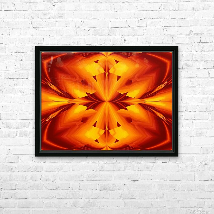 Fire Flowers 109 HD Sublimation Metal print with Decorating Float Frame (BOX)