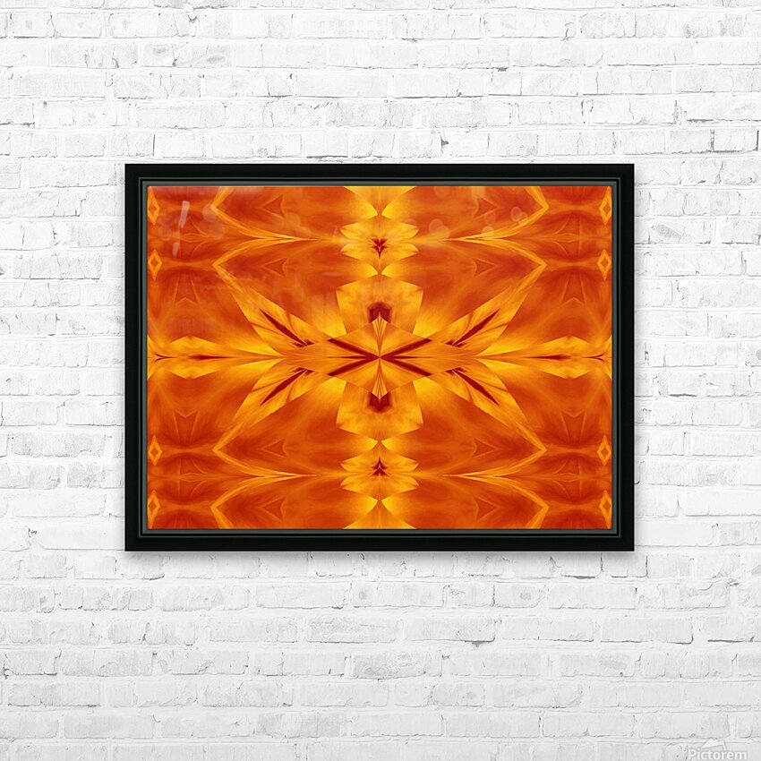 Fire Flowers 117 HD Sublimation Metal print with Decorating Float Frame (BOX)