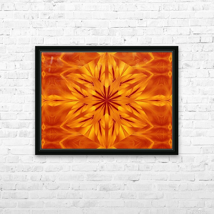 Fire Flowers 118 HD Sublimation Metal print with Decorating Float Frame (BOX)