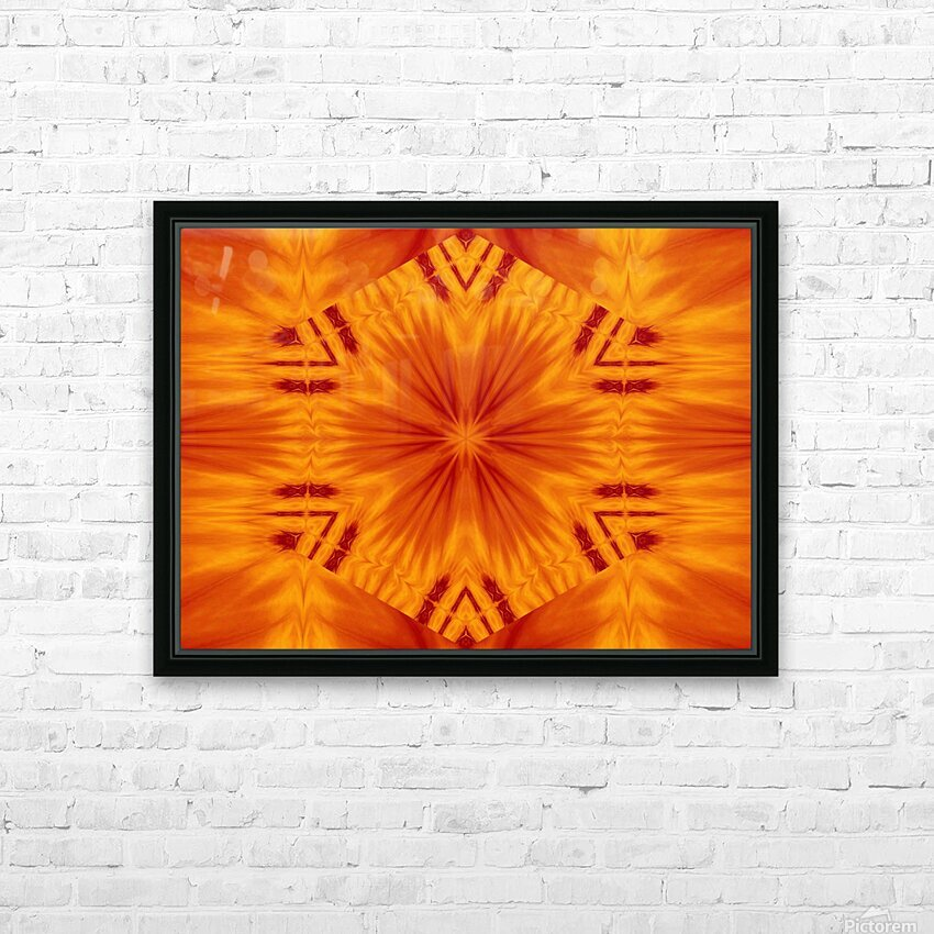 Fire Flowers 121 HD Sublimation Metal print with Decorating Float Frame (BOX)