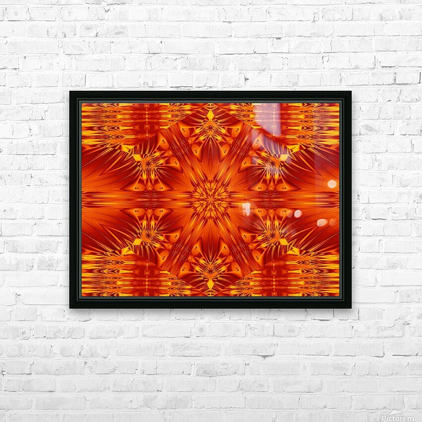 Fire Flowers 141 HD Sublimation Metal print with Decorating Float Frame (BOX)