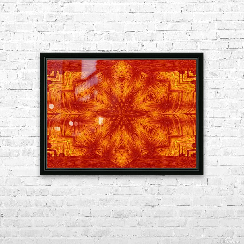 Fire Flowers 153 HD Sublimation Metal print with Decorating Float Frame (BOX)