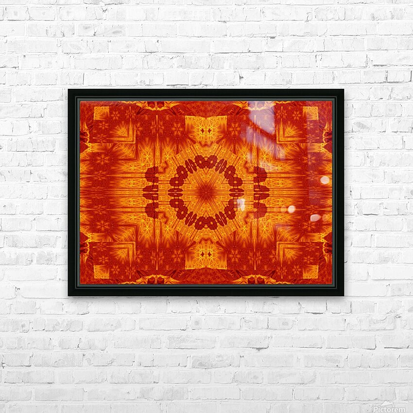 Fire Flowers 154 HD Sublimation Metal print with Decorating Float Frame (BOX)