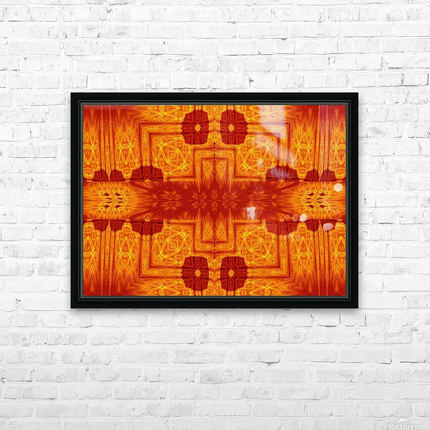 Fire Flowers 158 HD Sublimation Metal print with Decorating Float Frame (BOX)