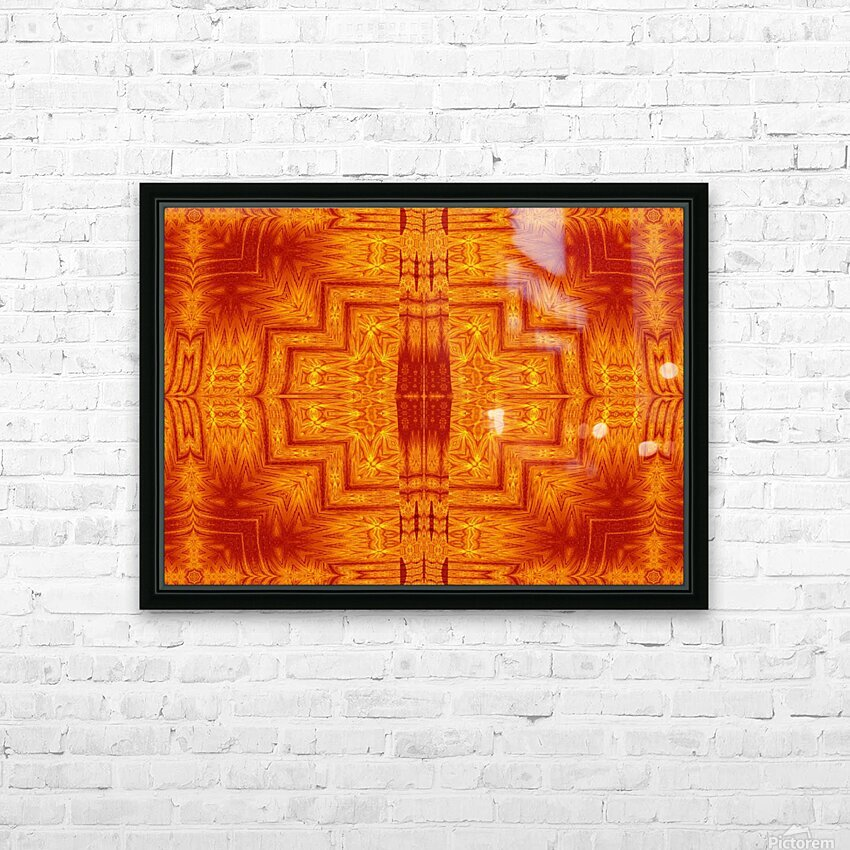 Fire Flowers 159 HD Sublimation Metal print with Decorating Float Frame (BOX)