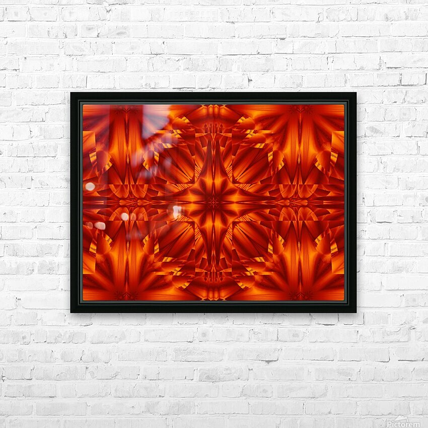 Fire Flowers 187 HD Sublimation Metal print with Decorating Float Frame (BOX)