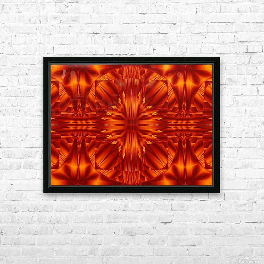 Fire Flowers 188 HD Sublimation Metal print with Decorating Float Frame (BOX)