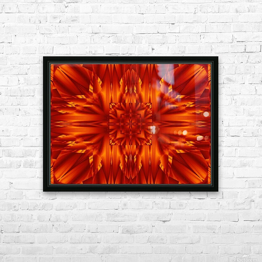 Fire Flowers 190 HD Sublimation Metal print with Decorating Float Frame (BOX)