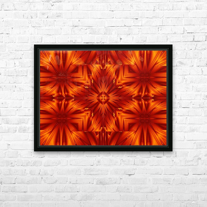 Fire Flowers 191 HD Sublimation Metal print with Decorating Float Frame (BOX)