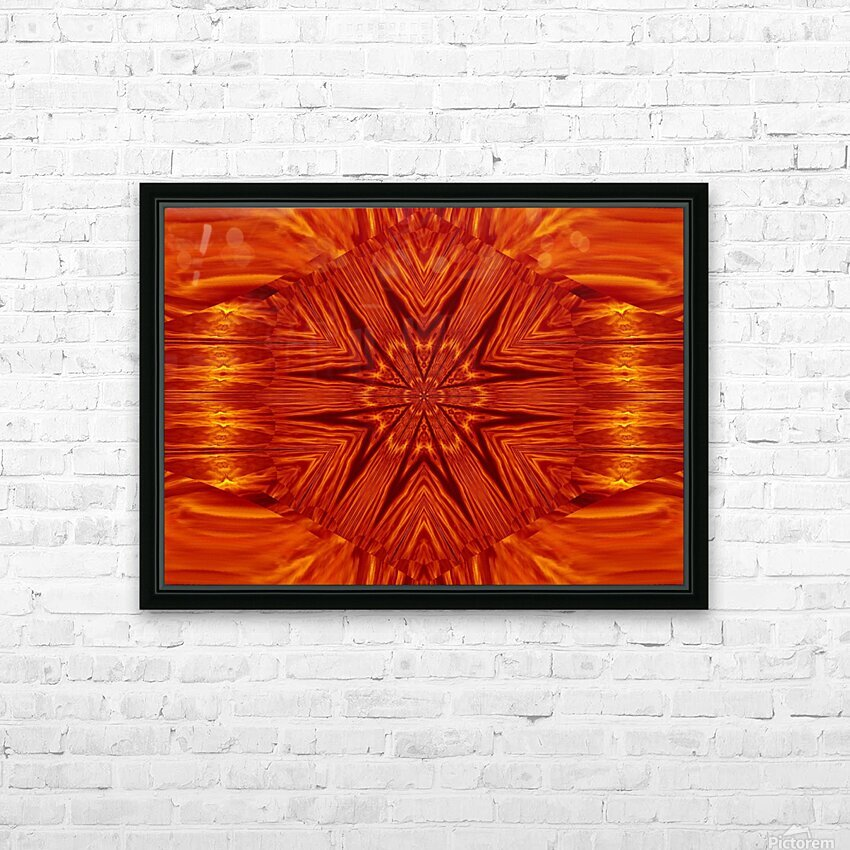 Fire Flowers 204 HD Sublimation Metal print with Decorating Float Frame (BOX)