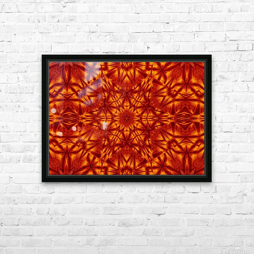 Fire Flowers 207 HD Sublimation Metal print with Decorating Float Frame (BOX)
