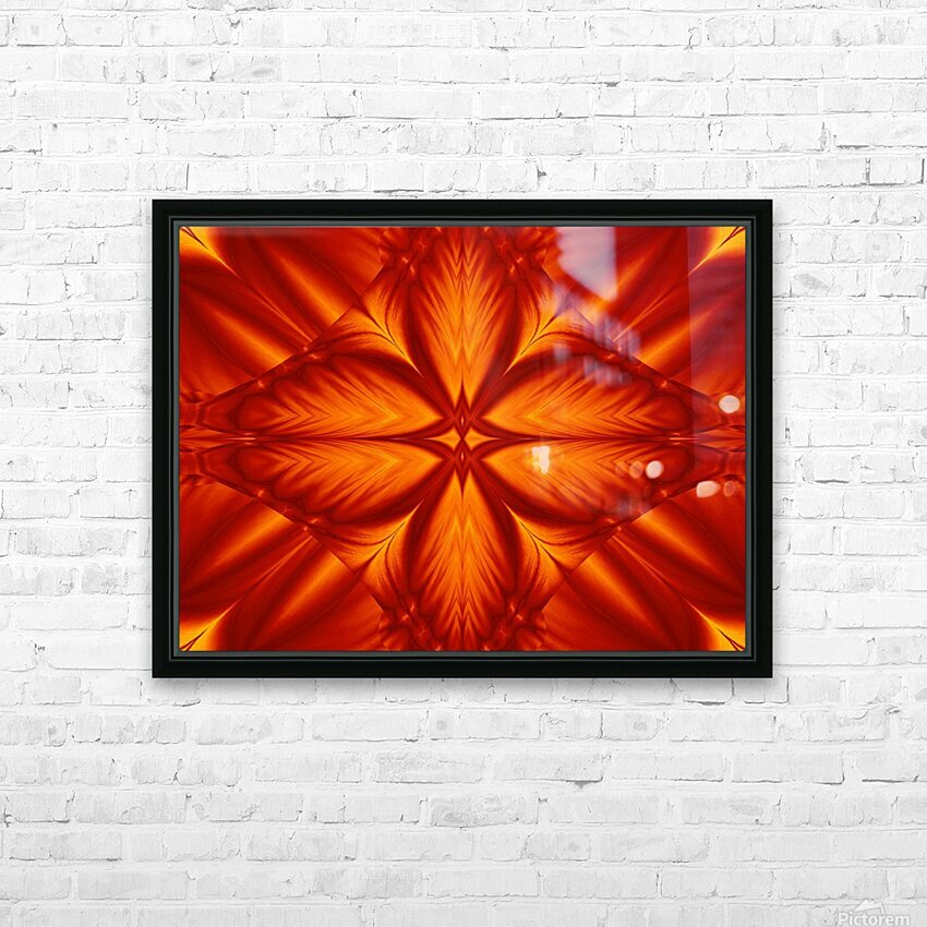 Fire Flowers 248 HD Sublimation Metal print with Decorating Float Frame (BOX)