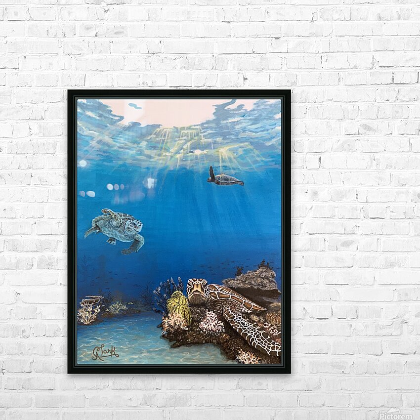 Under the Sea HD Sublimation Metal print with Decorating Float Frame (BOX)