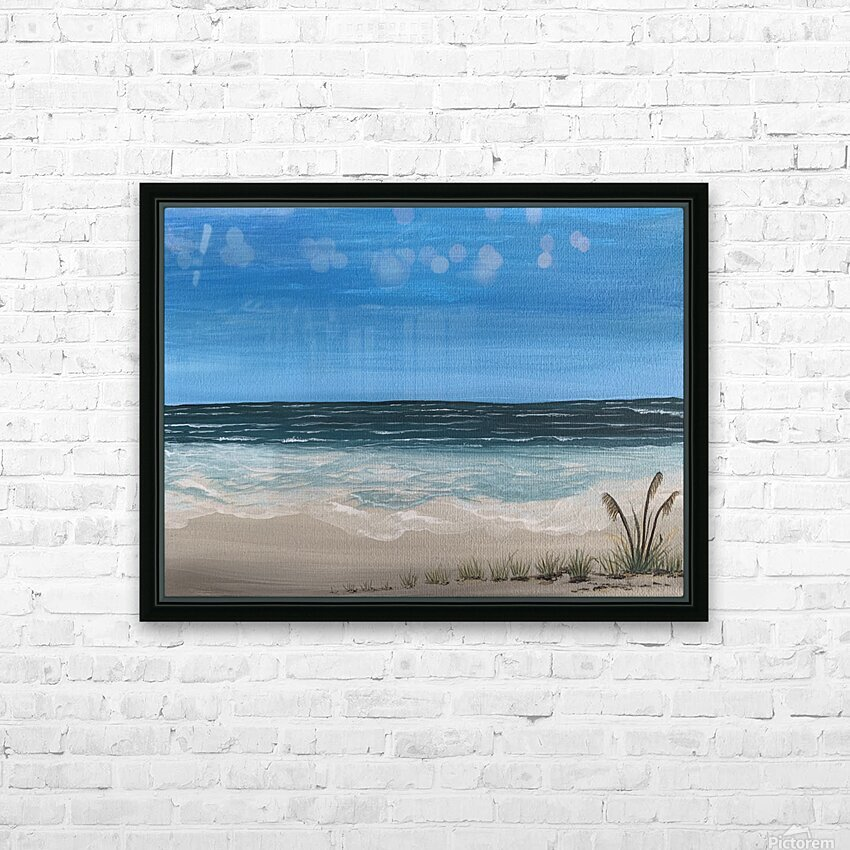 Ocean side HD Sublimation Metal print with Decorating Float Frame (BOX)