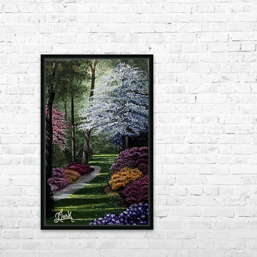 Spring in the Park HD Sublimation Metal print with Decorating Float Frame (BOX)