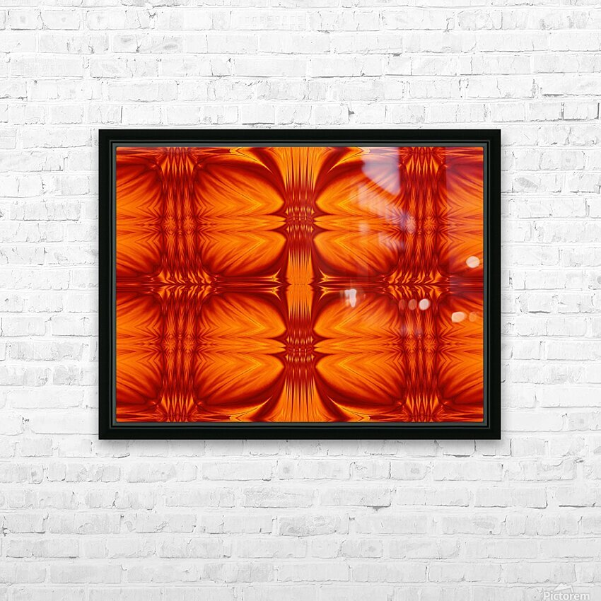 Fire Flowers 270 HD Sublimation Metal print with Decorating Float Frame (BOX)