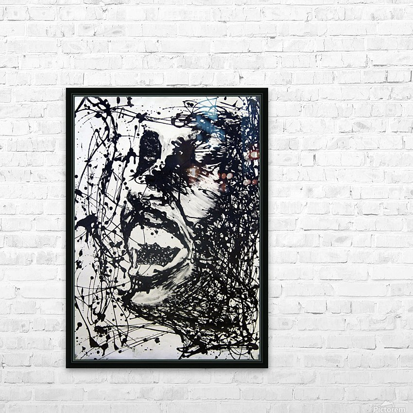 Scream HD Sublimation Metal print with Decorating Float Frame (BOX)