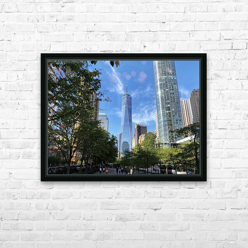 One World Trade Center HD Sublimation Metal print with Decorating Float Frame (BOX)